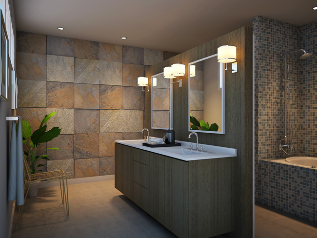 2 European Style Bathroom Vanity