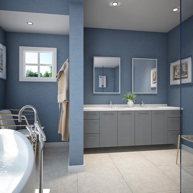 3 Drawers Bathroom Vanity