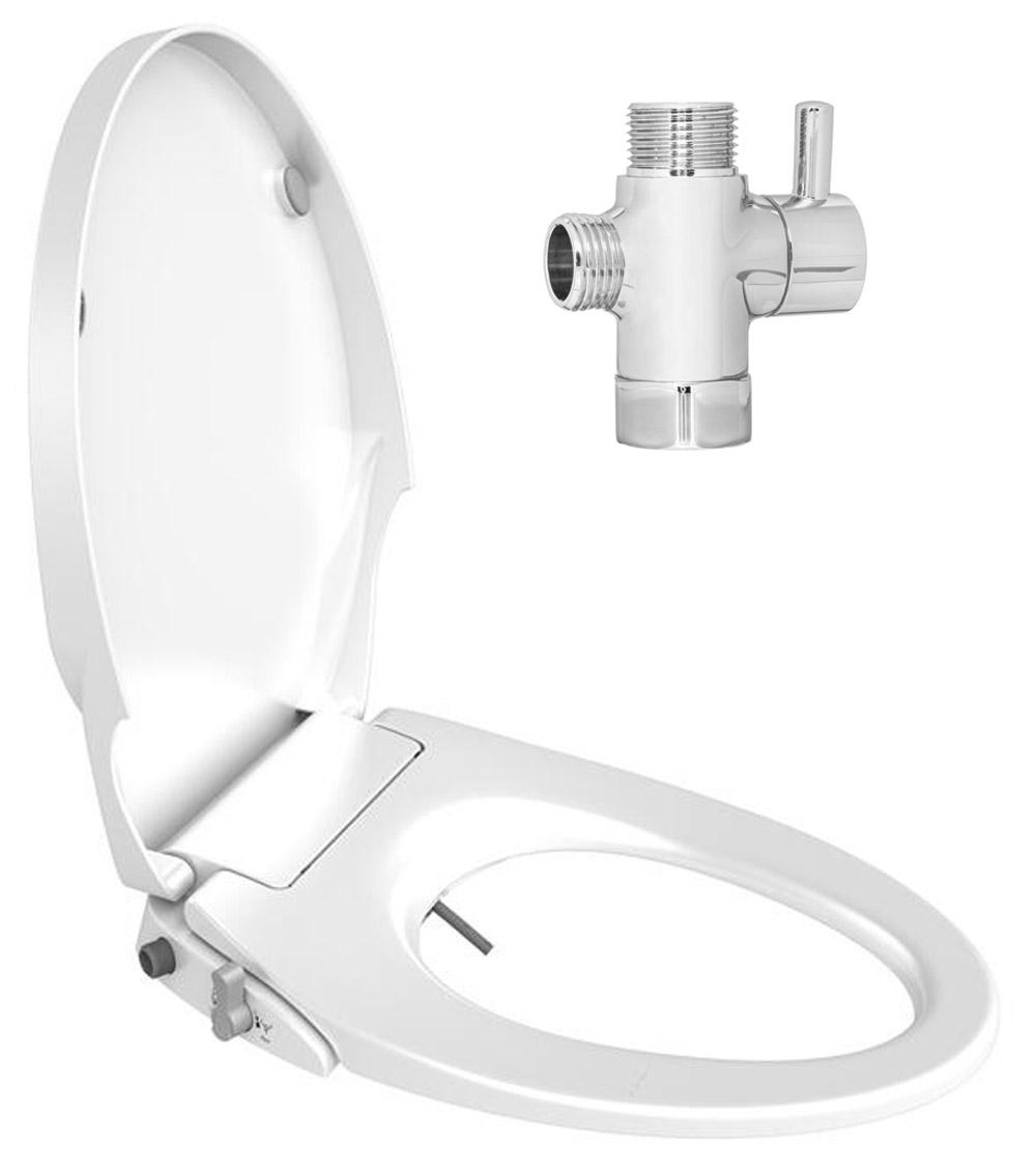 Fantastic Details About Slim Design Soft Close Dual Nozzles Non Electric Bidet Seat For Elongated Toilet Forskolin Free Trial Chair Design Images Forskolin Free Trialorg